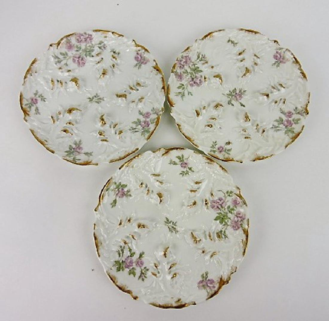 "Haviland set of 3-8 1/2"" oyster plates,"