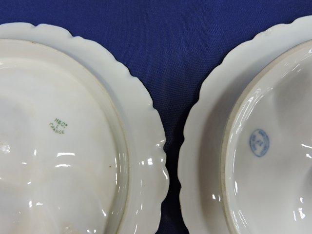 Lot of 4 porcelain turkey oyster plates - 2