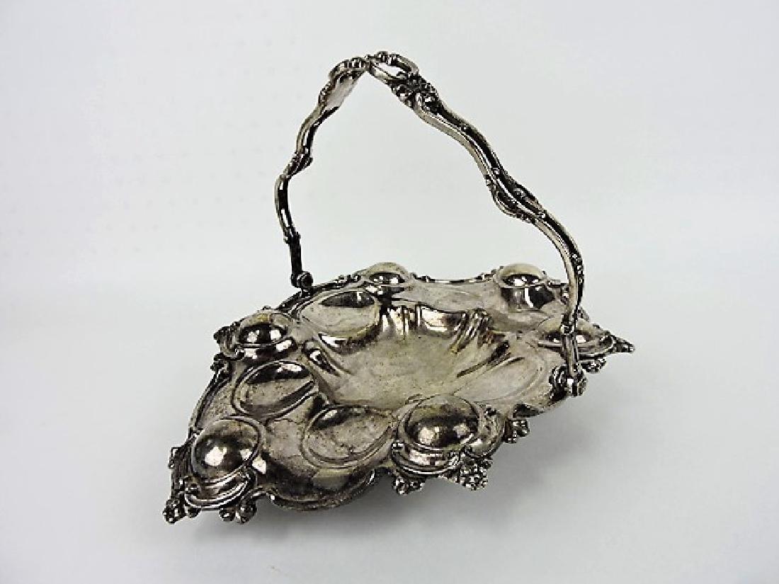 Silver plate oyster serving basket