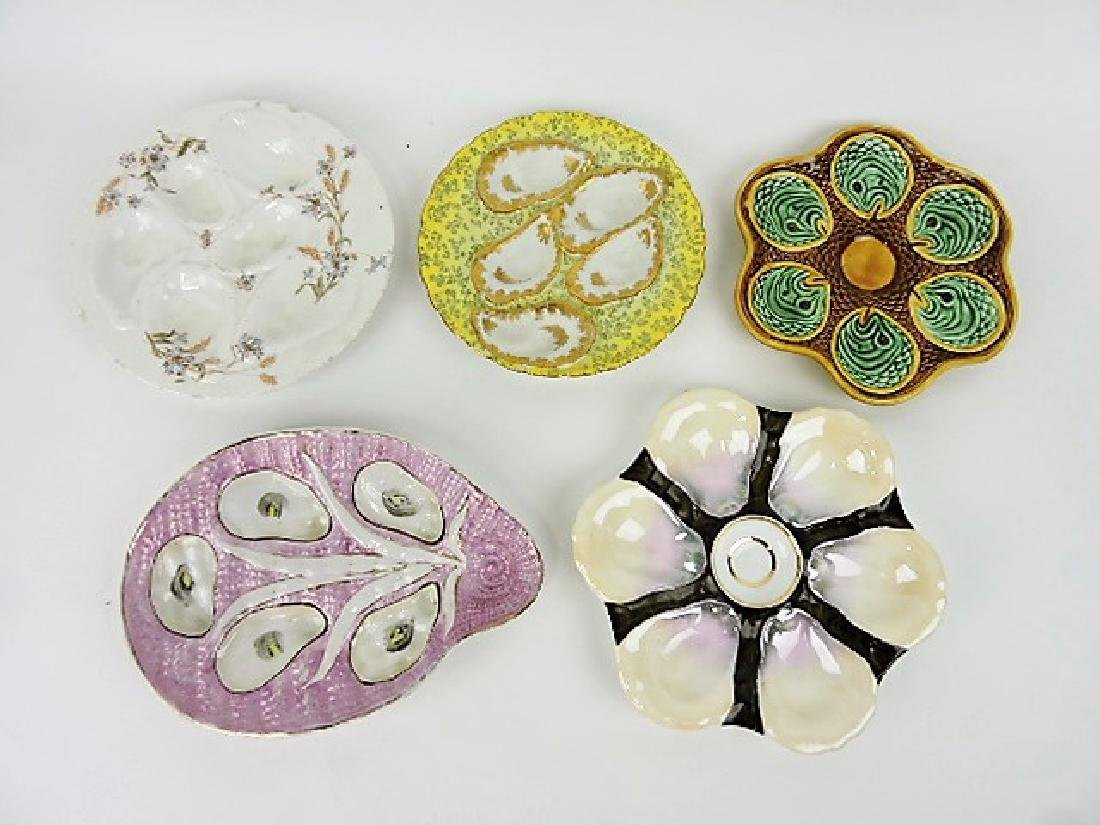 Lot of 5 oyster plates, vc