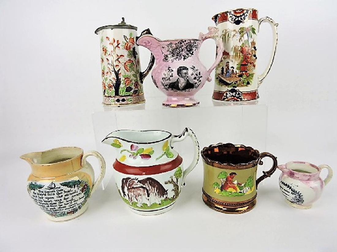 English jug lot of 7, vc