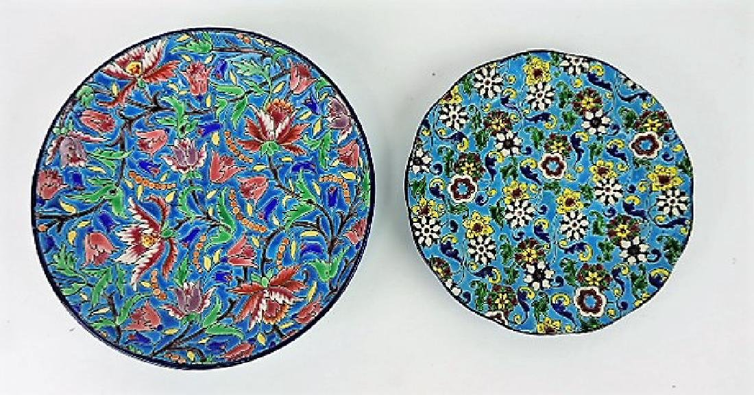 """Longwy lot of 8"""" bowl and 7"""" plate"""
