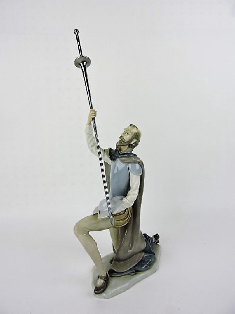 Lladro figure of Don Quixote with sword,