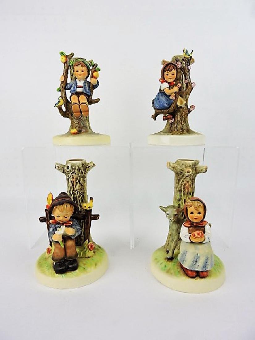 Hummel lot of 2 pair candle holders - #676, #677,