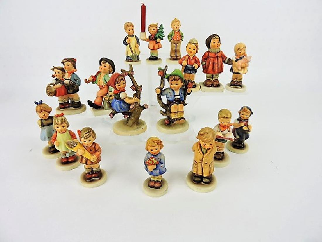 """Hummel lof of 17 figurines, 3 1/2"""""""