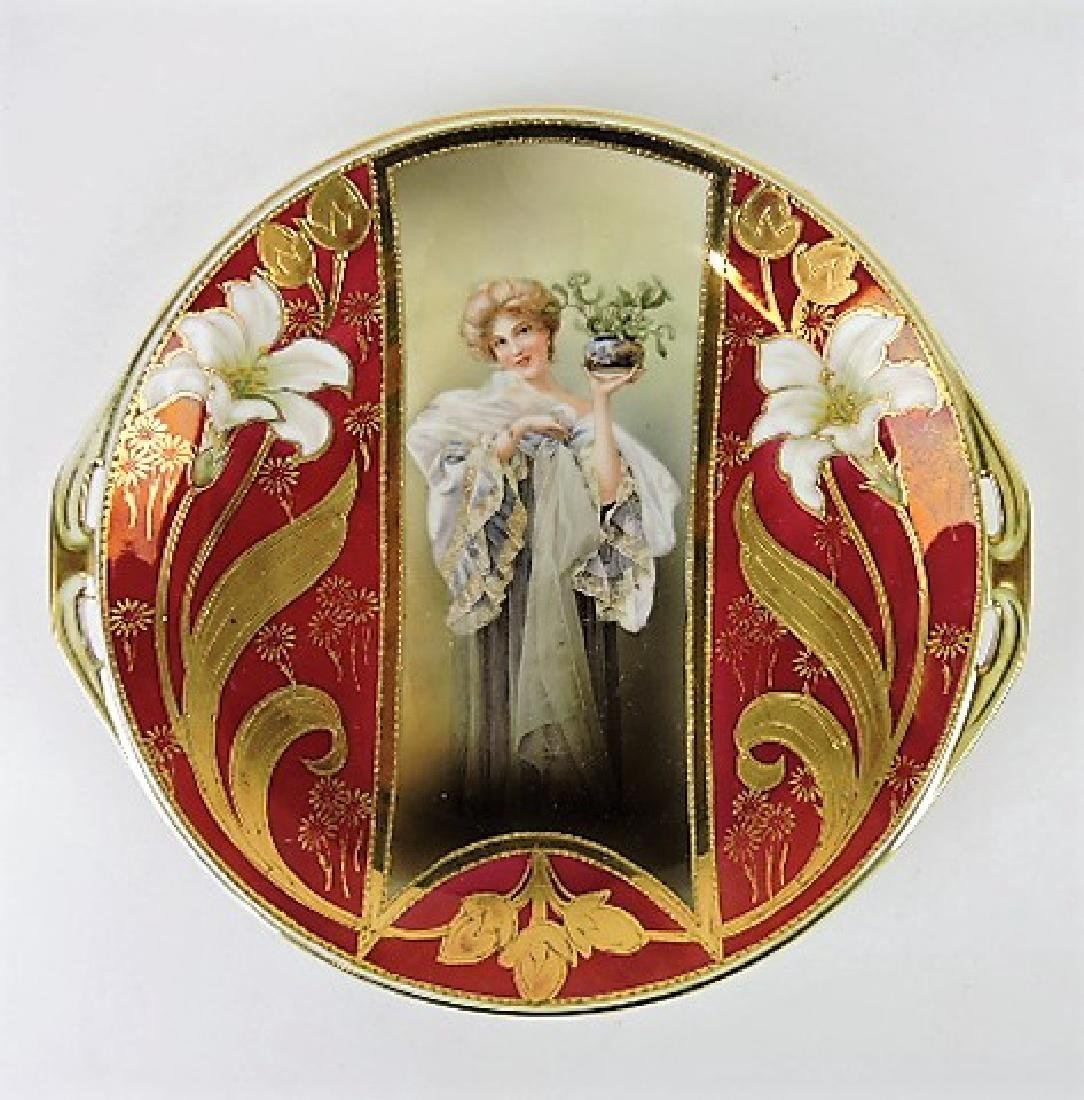 R.S. Prussia unmarked keyhole portrait plate