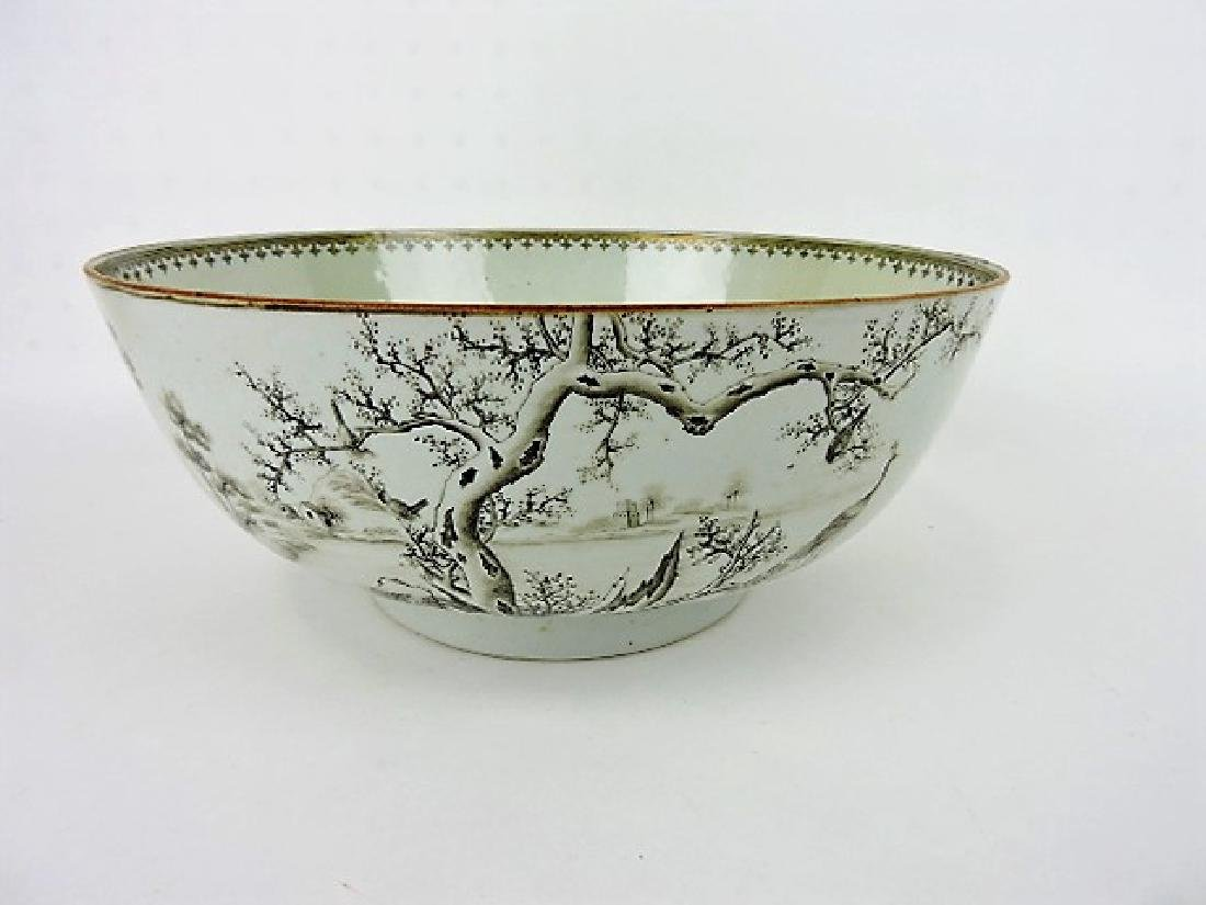 """Early Chinese export bowl, 12"""", professional"""