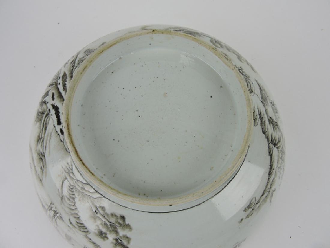 """Early Chinese export bowl, 12"""", professional - 2"""