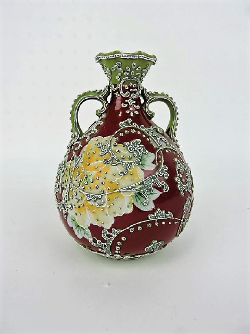 "Moriage vase 6 1/2"""
