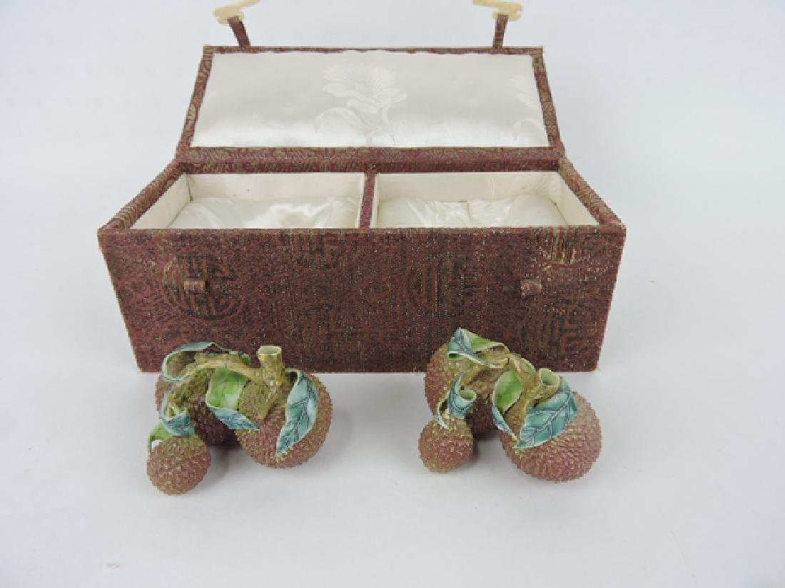 Chelsea porcelain nut figures in original box