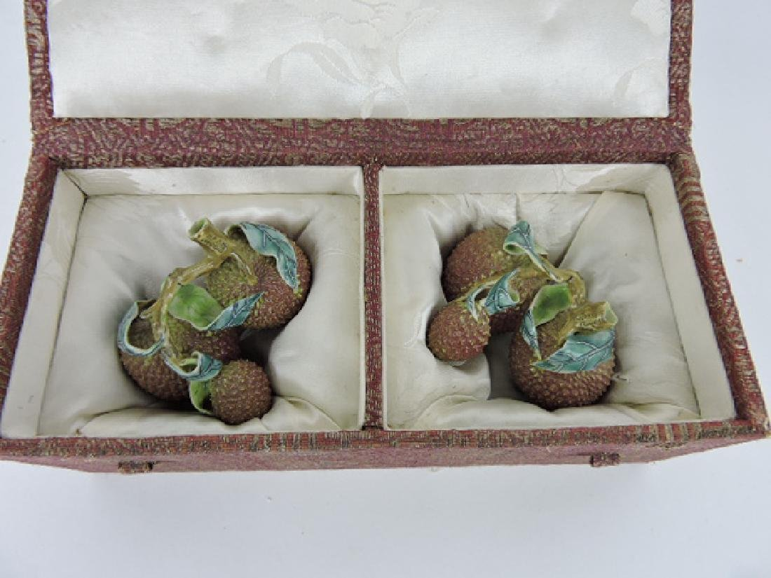 Chelsea porcelain nut figures in original box - 3