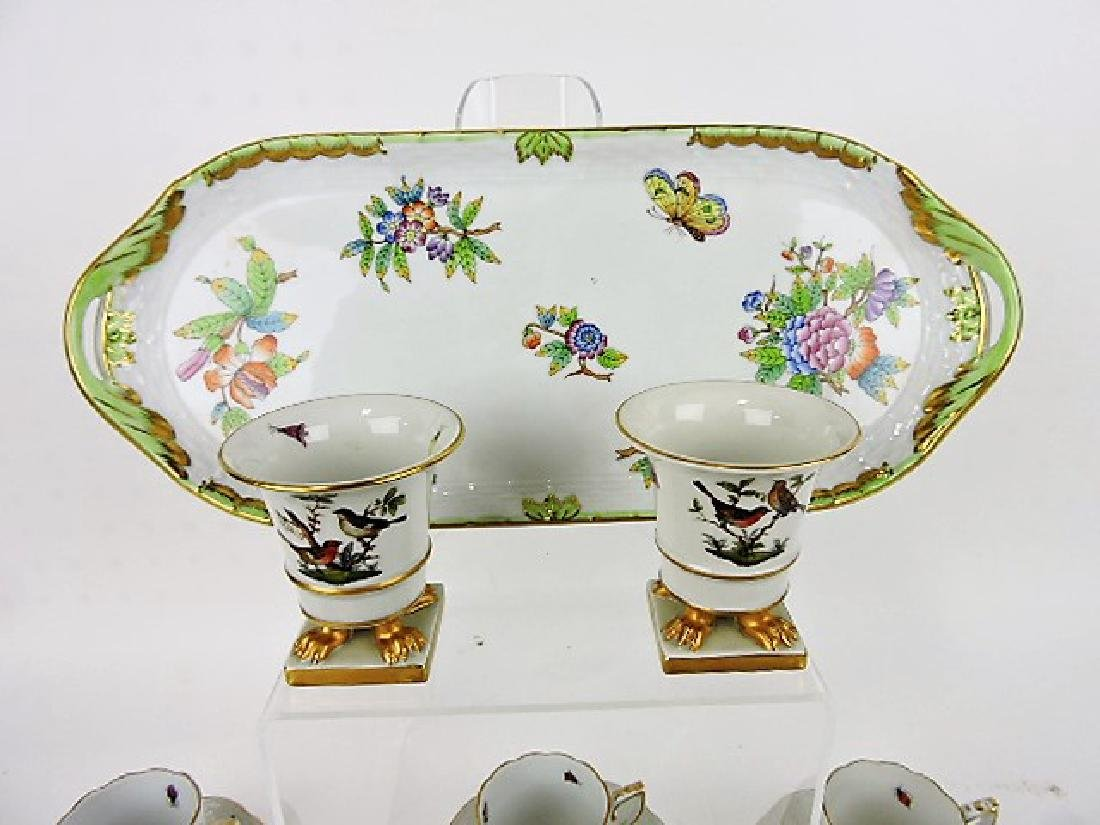Herend Rothschild porcelain group with birds, - 2