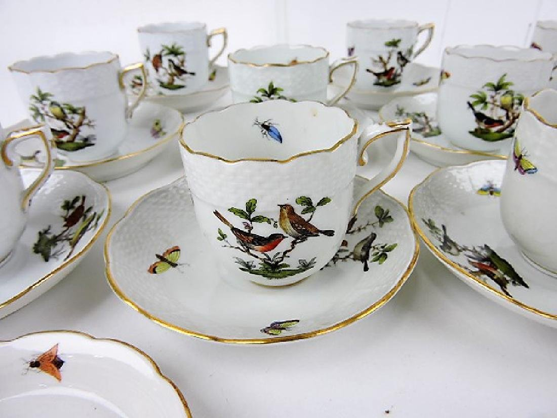 Herend Rothschild porcelain group with birds, - 3