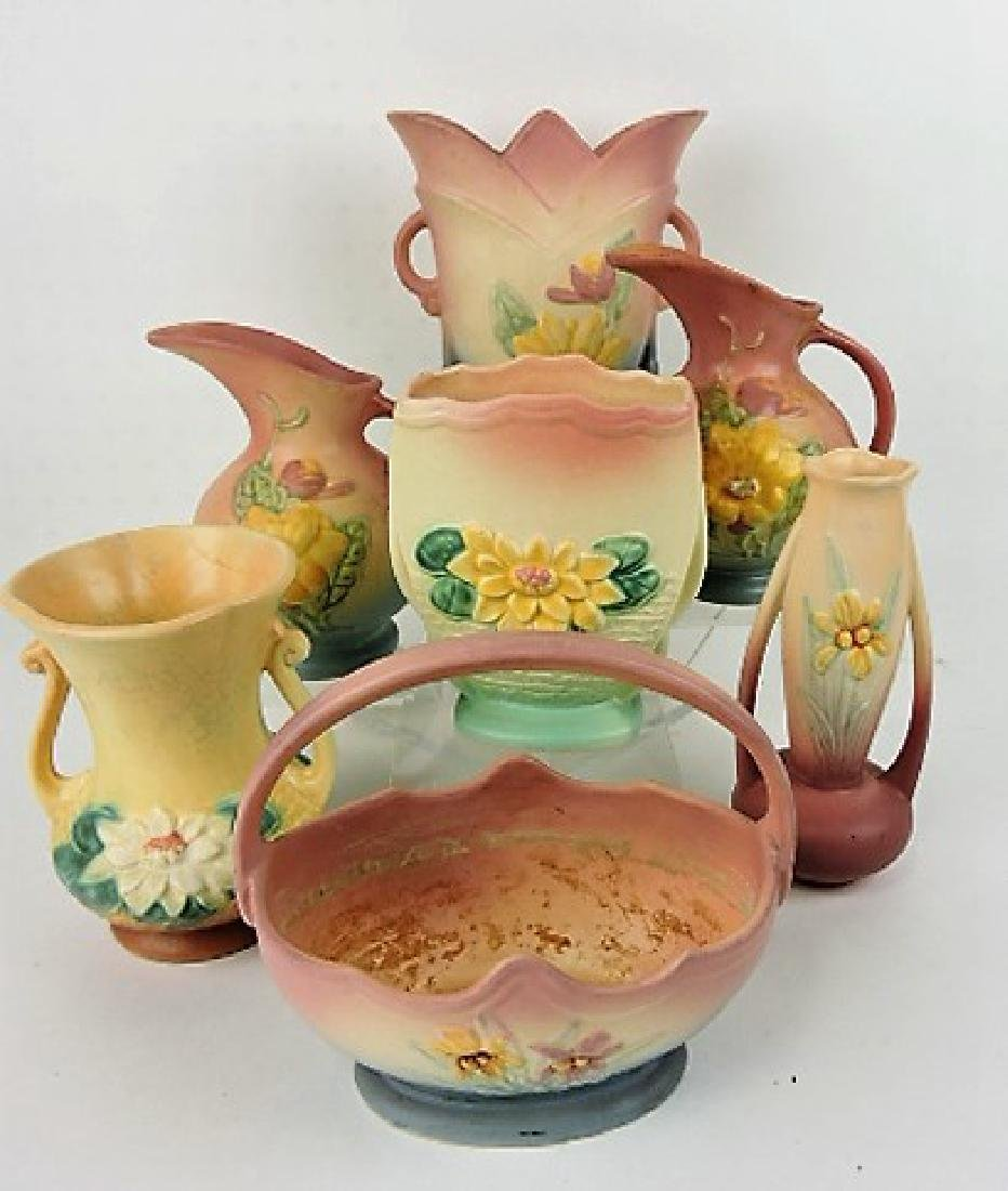 Hull Pottery lot of 7 pieces, vc
