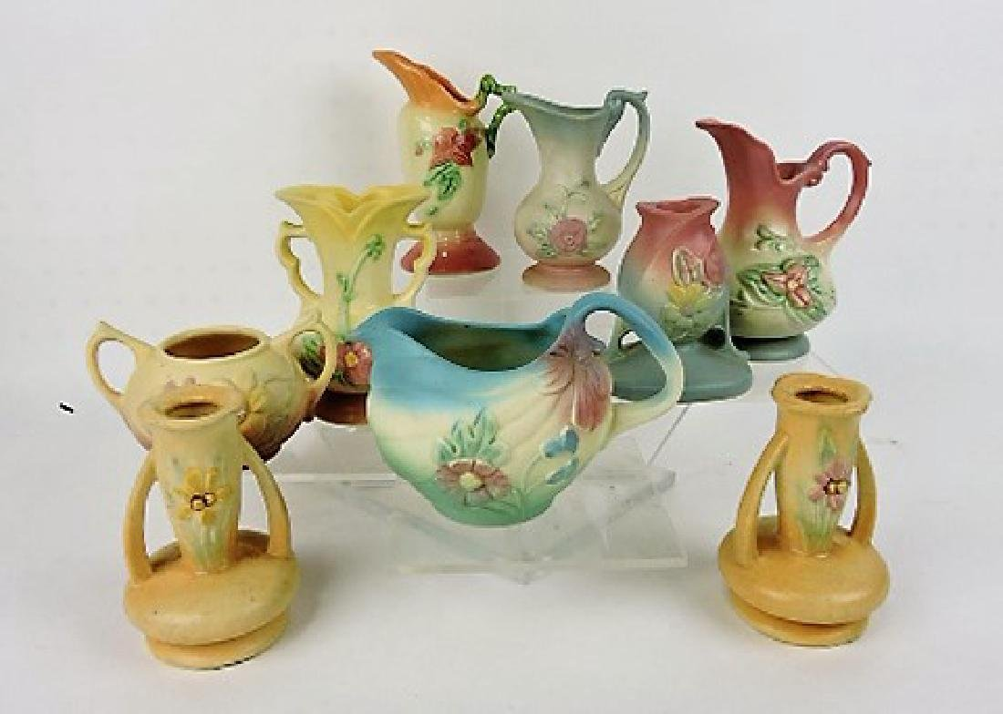 Hull Pottery lot of 9 pieces, vc