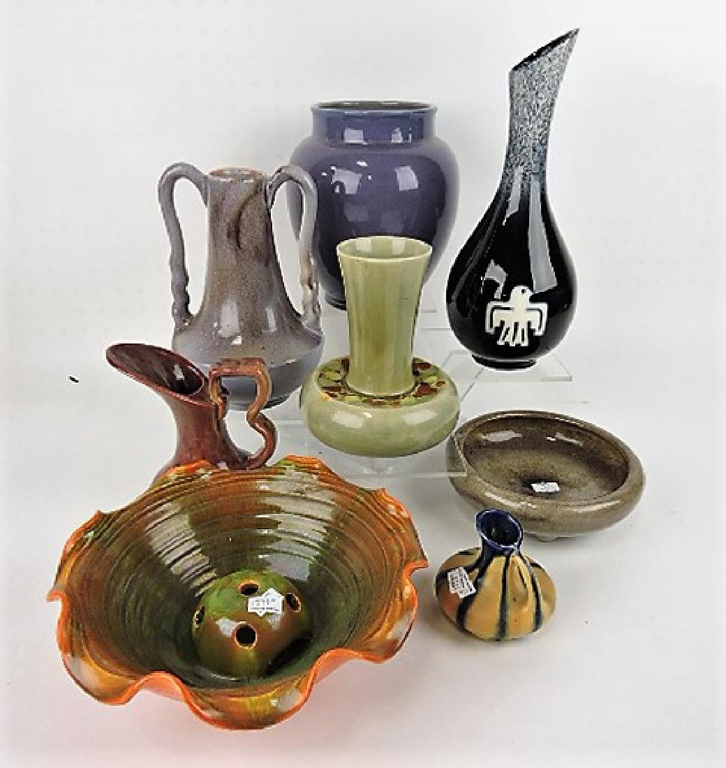 Art pottery lot of 8 pieces