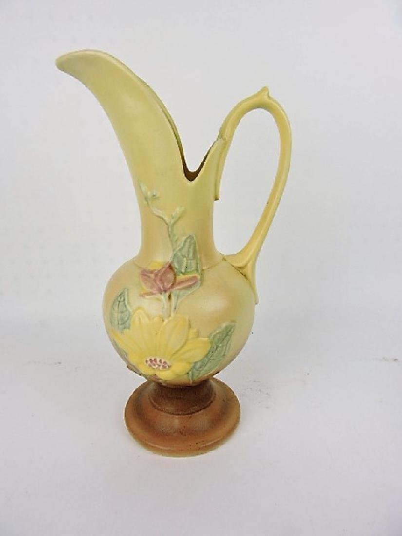 Hull Pottery ewer with paper label, 18-13 1/2