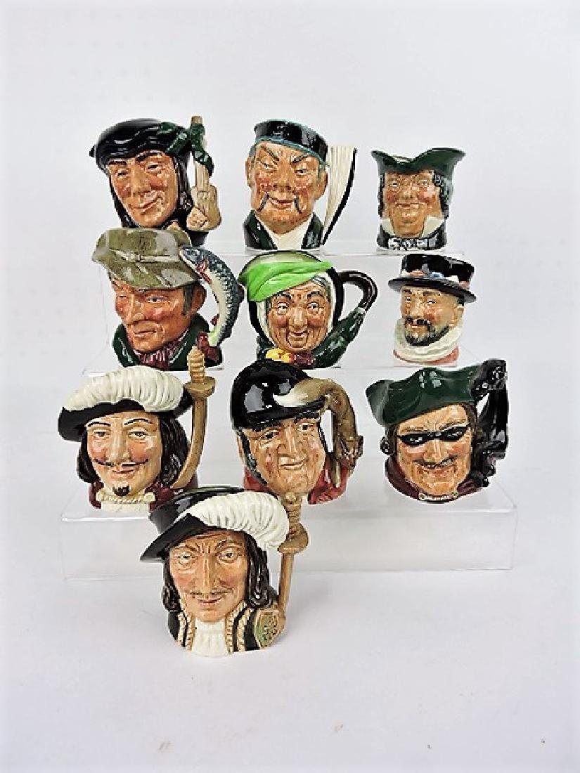 "Royal Doulton lot of 10-3"" toby jugs"