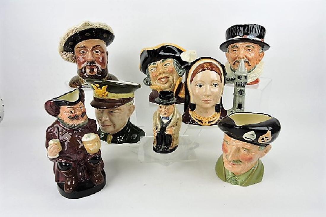 Lot of 8 toby jugs- Beswick Henry VIII Barrington