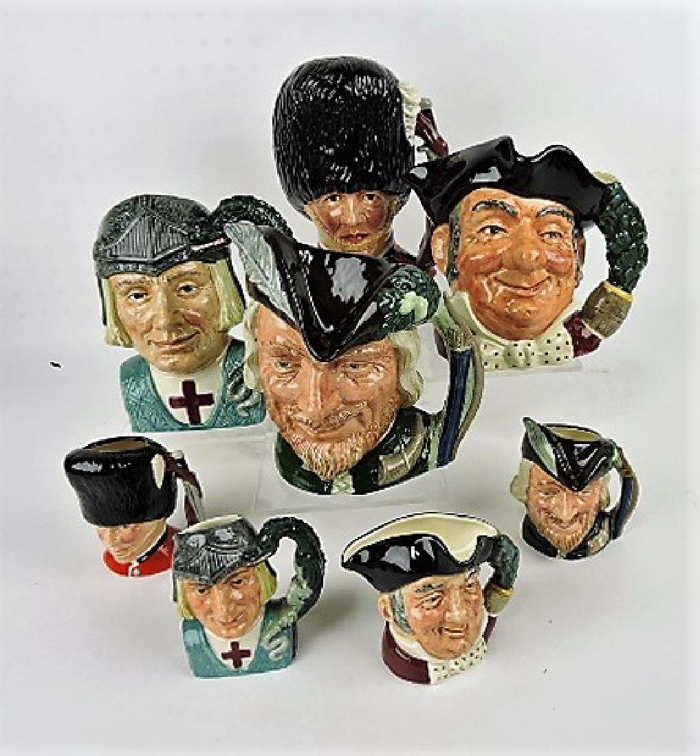 Royal Doulton large and small jug sets- The