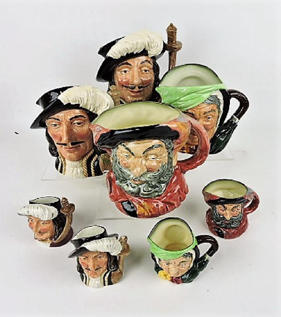 Royal Doulton large and small jug sets- Porthos,