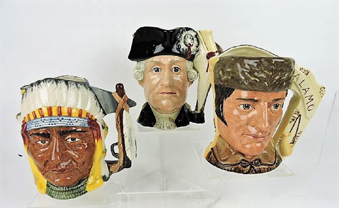Royal Doulton lot of 3 Antagonists double face