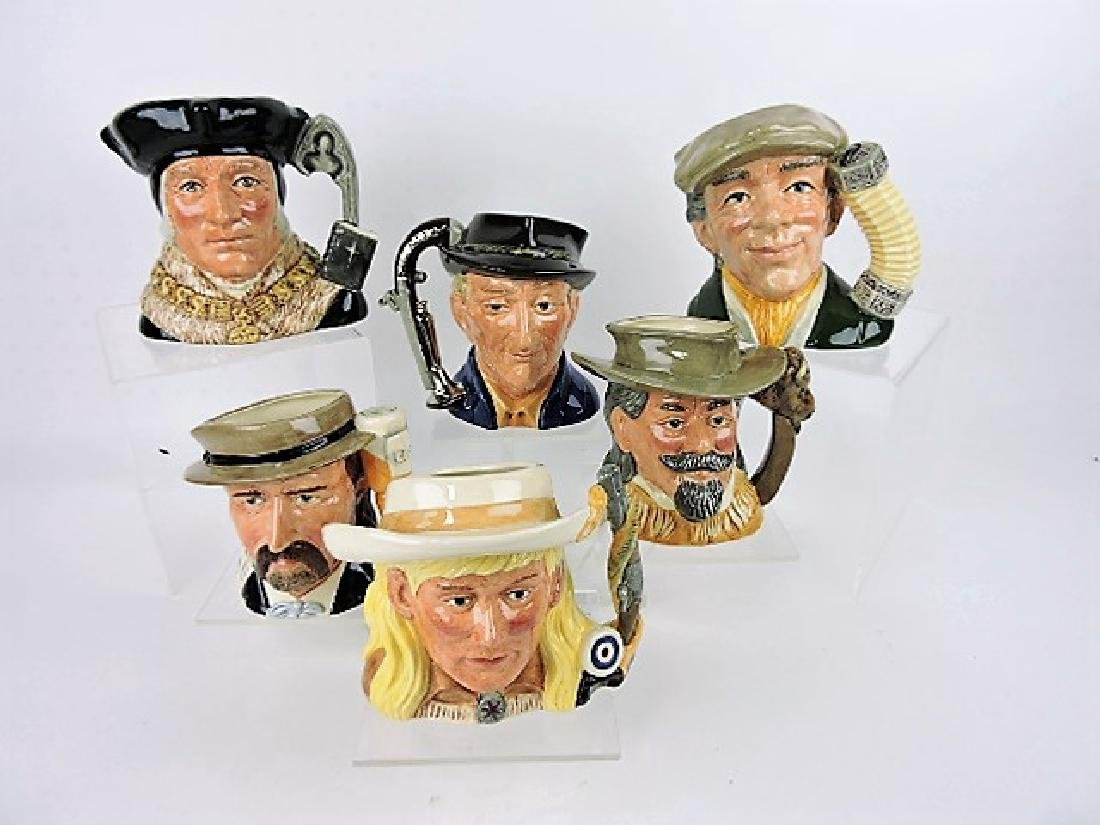 Royal Doulton lot of 6 large toby jugs-