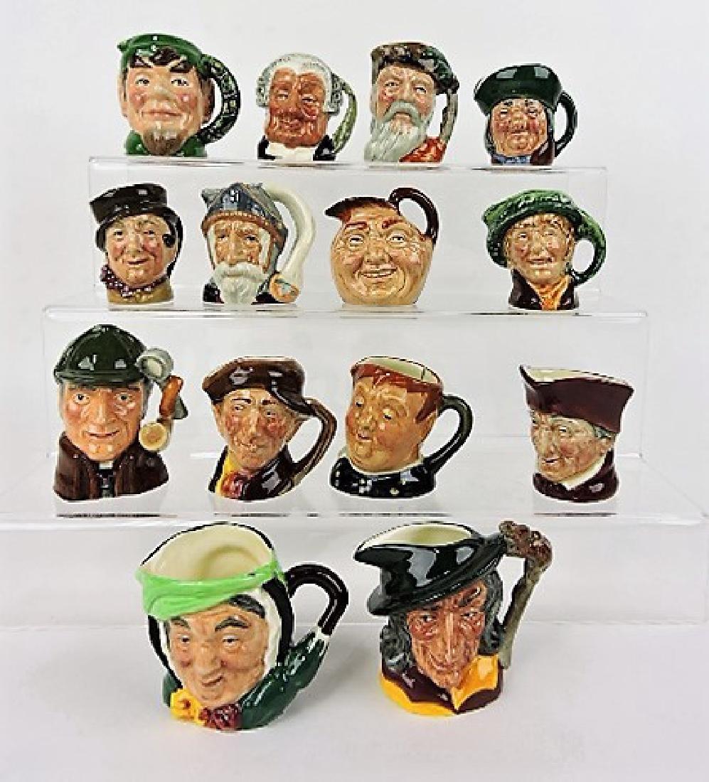 Royal Doulton lot of 14 mini toby jugs