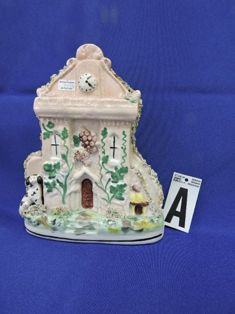 Staffordshire lot of 4 figures with clocks or - 2