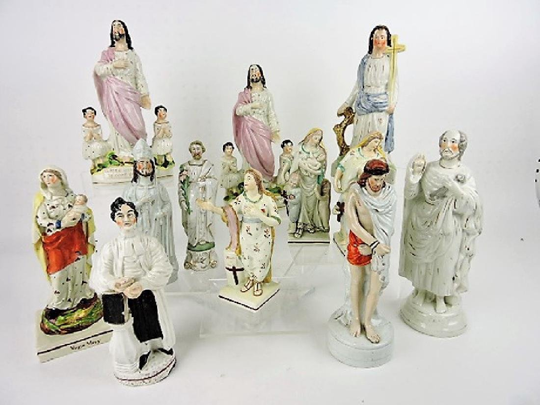 Staffordshire lot of 12 religious figures,
