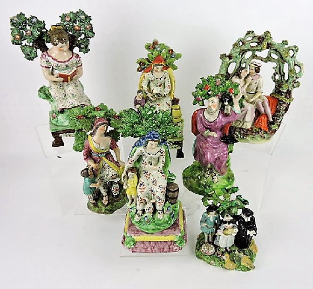 Staffordshire Pearlware lot of 7 figures,
