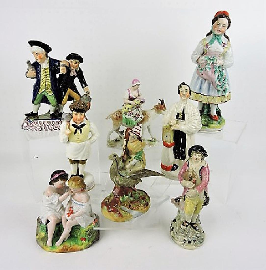 Staffordshire Pearlware lot of 8 figures,