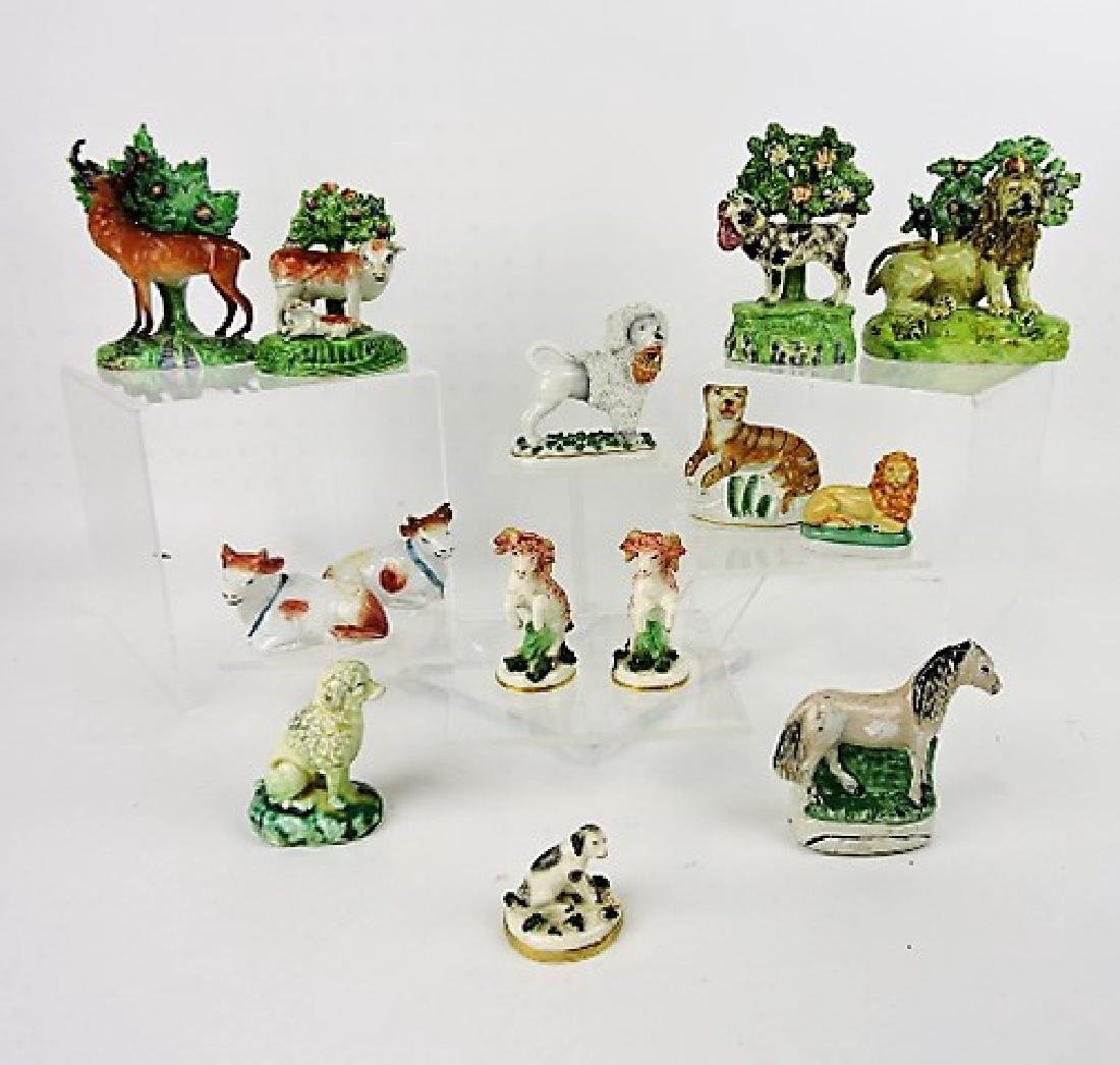 Staffordshire Pearlware lot of 14 figures of