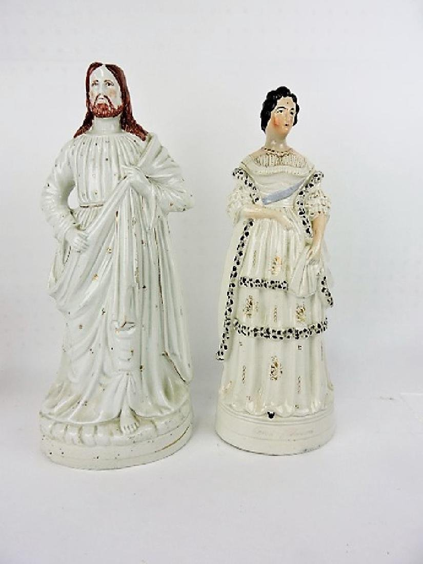 "Staffordshire pair of figures- 17 1/2"" & 16 1/2"","