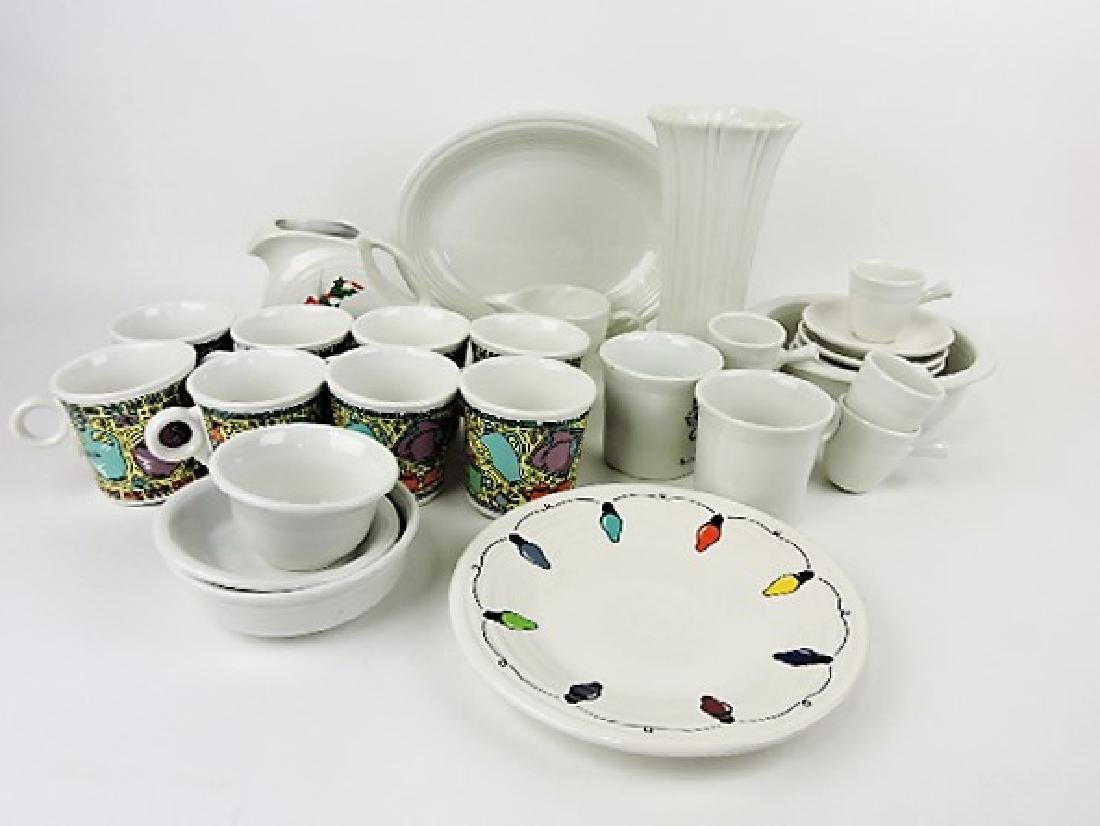 Fiesta Post 86 white lot of 24 assorted pcs, some