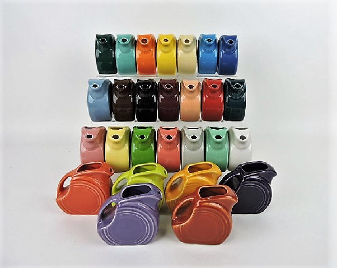 Fiesta Post 86 collection of 27 mini disk pitchers