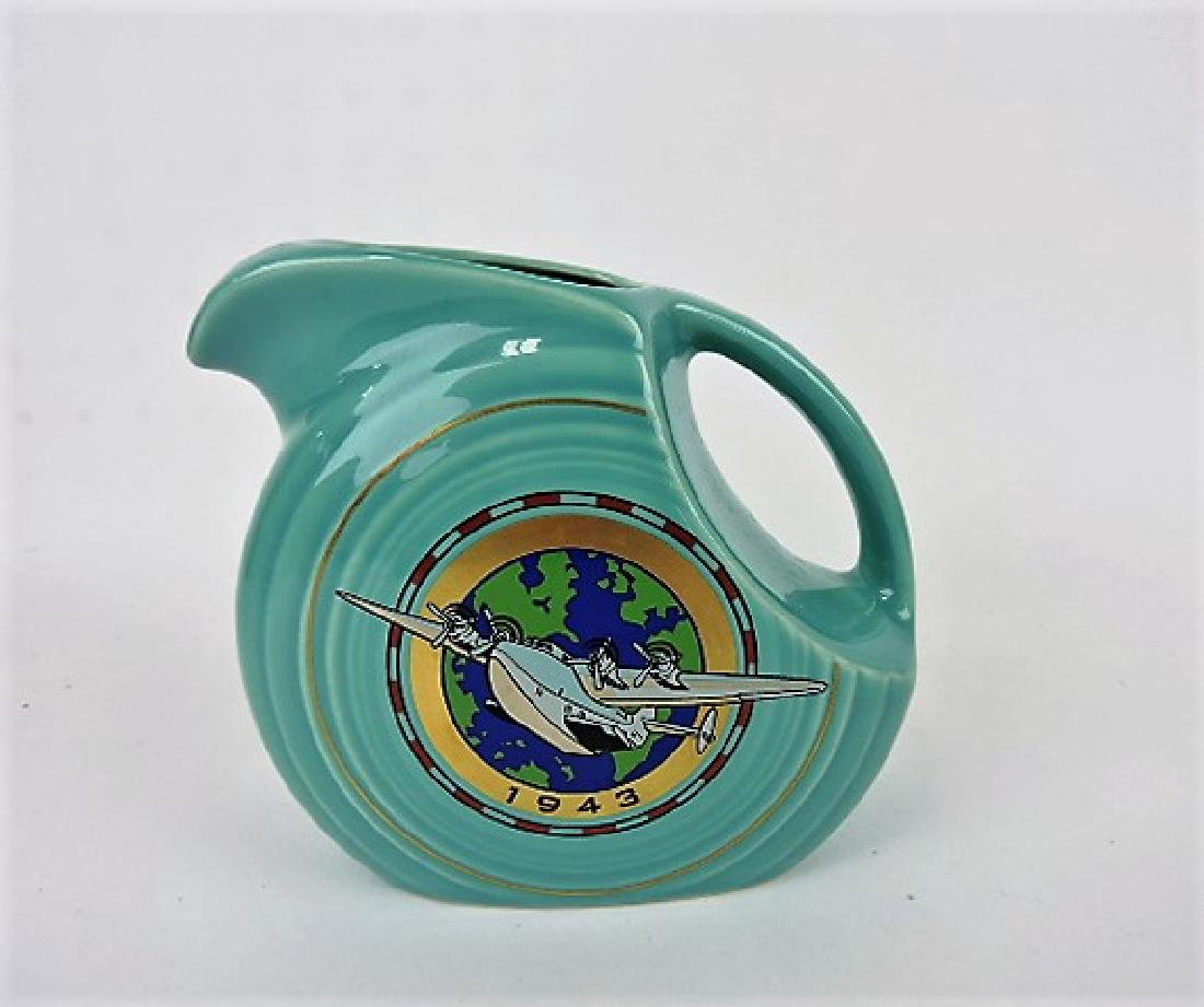 Fiesta Post 86 disk juice pitcher turquoise 2011