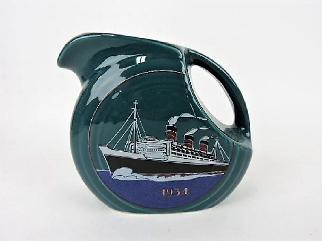 Fiesta Post 86 disk juice pitcher 1934 Queen Mary,