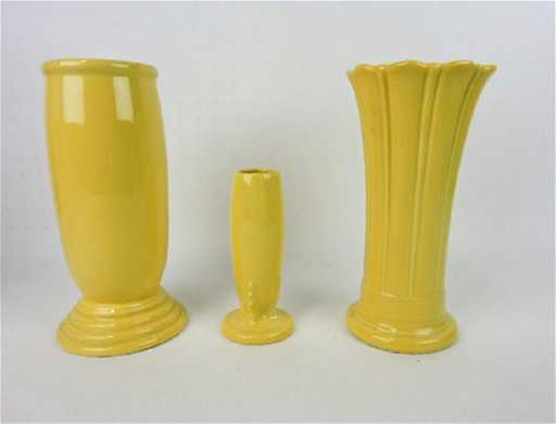 Fiesta Post 86 Yellow Vase Group