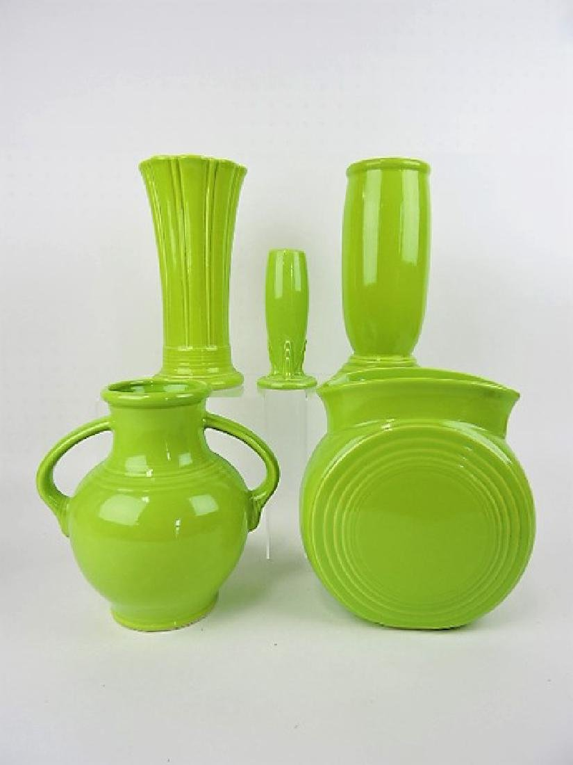 Fiesta Post 86, chartreuse vase group
