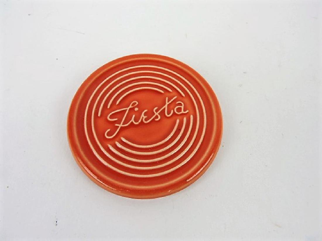Fiesta Post 86, persimmon coaster, rare proto-type