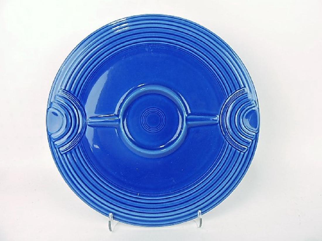 Fiesta Post 86, sapphire RARE chip & dip tray,