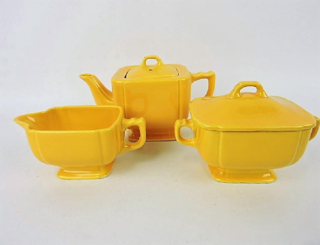 Fiesta Riviera yellow 3 piece tea set, very minor