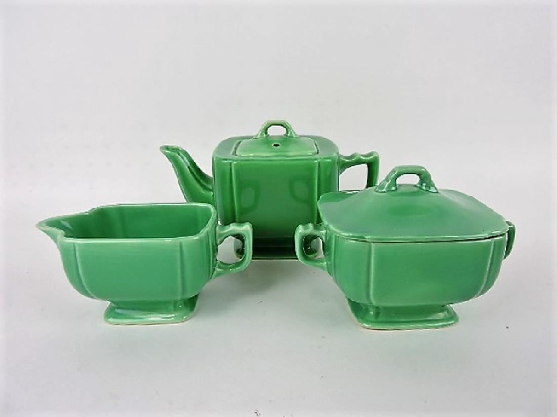 Fiesta Riviera green 3 piece tea set