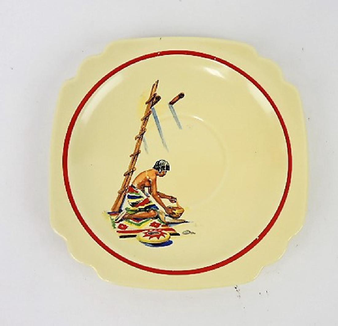 "Fiesta Ivory Century Pueblo I 6"" plate, rare"
