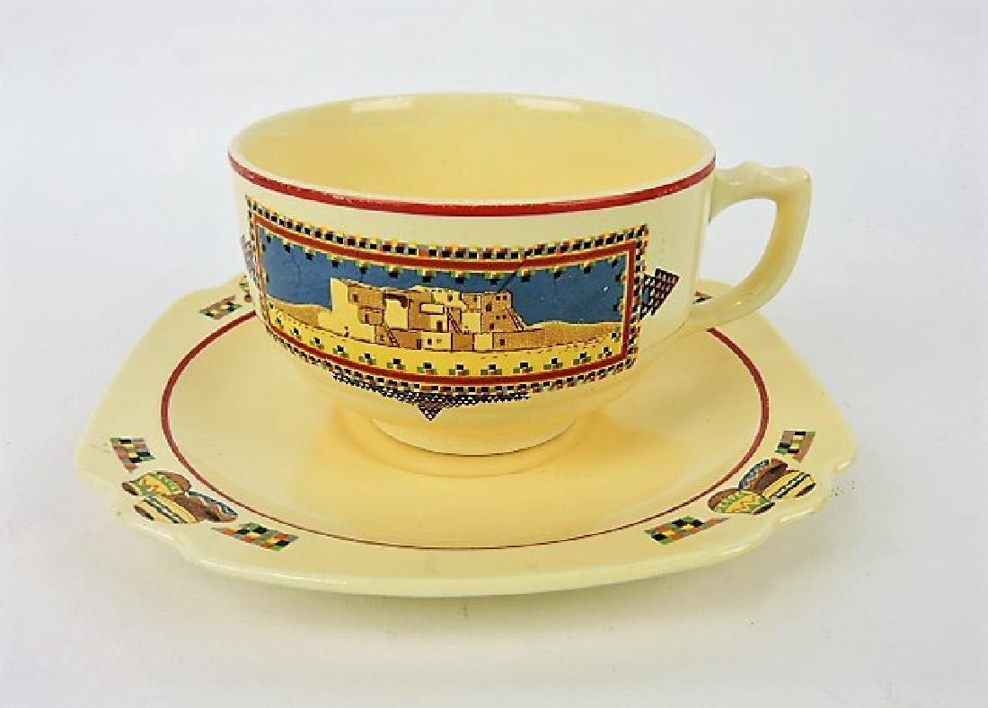 Fiesta Ivory Century Pueblo II cup/saucer,