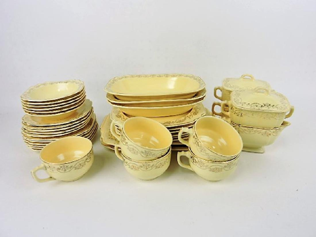 Fiesta Riviera lot of 37 pieces with gold decor,