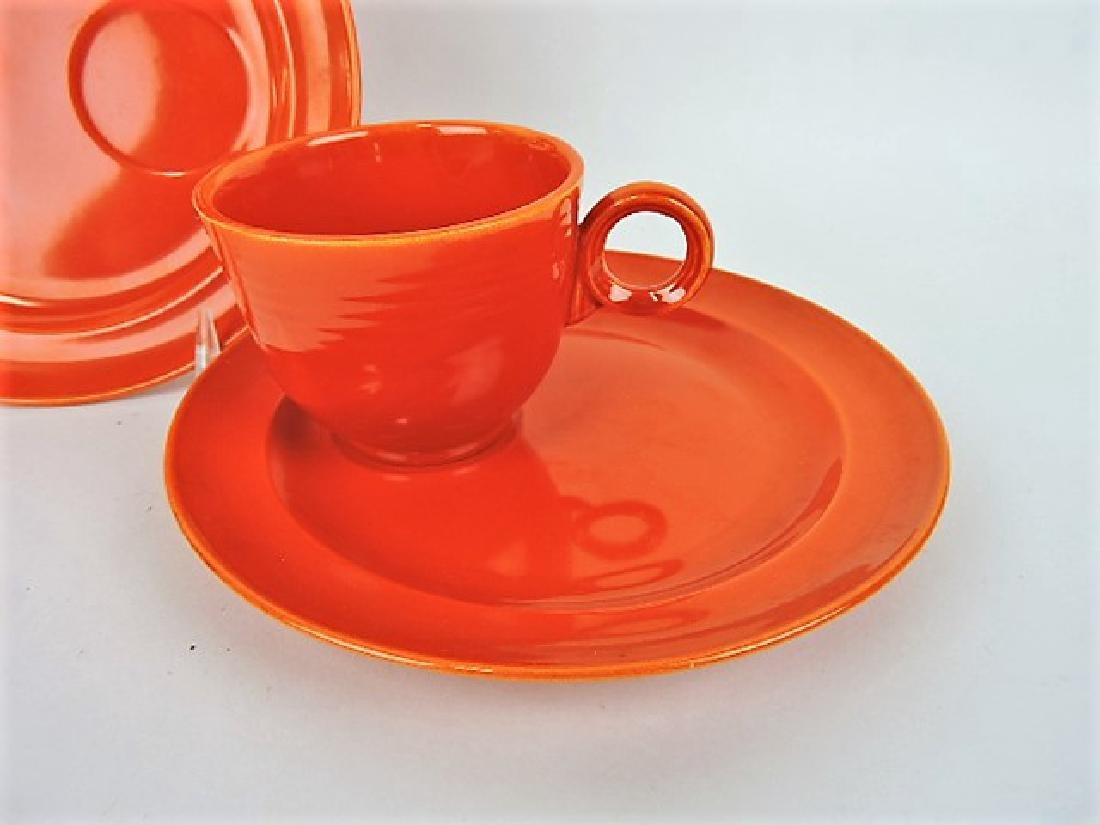 "Fiesta red set of 6 snack plates, 7 3/4"" with - 2"