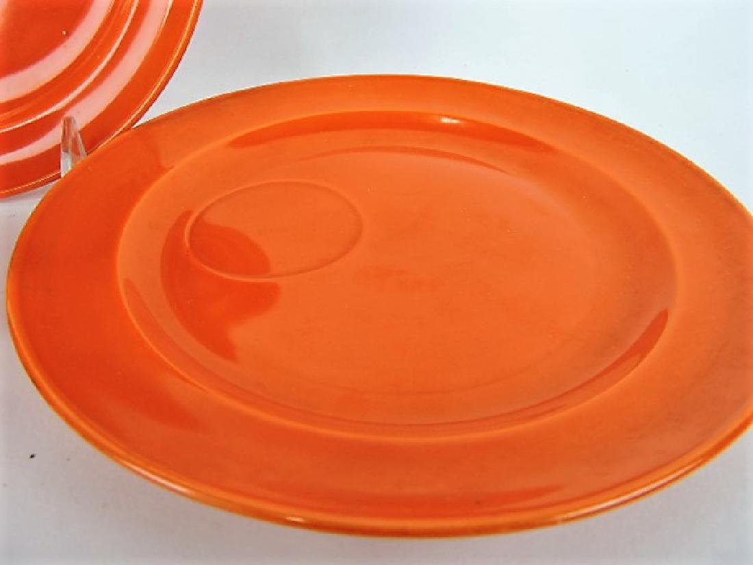 "Fiesta red set of 6 snack plates, 7 3/4"" with - 3"