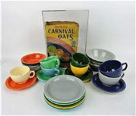 Fiesta HLC Carnival lot of plates, bowls, cups &